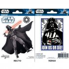 Set 2 Stickers Dark Vador Star Wars