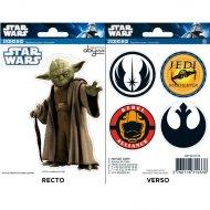 Set 6 Stickers Yoda Star Wars