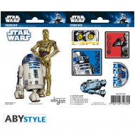 Set 7 Stickers R2D2, C3PO Star Wars (Repositionnables)