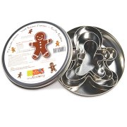 Boîte de 3 Emporte-pièces Métal Bonhomme Pain d'épices