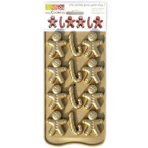 Moule 12 Chocolats Bonhomme Pain d épices