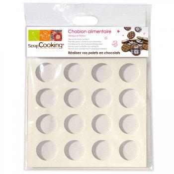 Chablon pour palets en chocolat