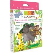 Boîte de 4 Emporte-pièces Animaux de la Jungle