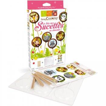Coffret Atelier Je fais mes sucettes chocolat Jungle