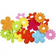 Set Fleurs de Feutrine Multicolores