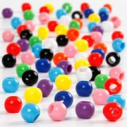 Perles Pony Multicolores (6 mm)