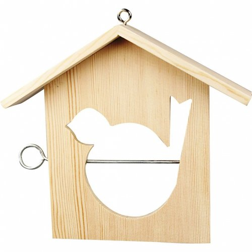 Mangeoire à Oiseaux à Décorer (18 cm) - Bois
