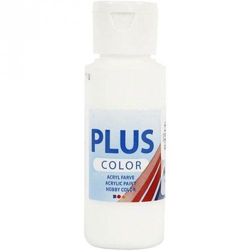 Peinture Acrylique Plus Color (60 ml) - Blanc