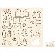13 Mini Décors en Bois à Assembler et Décorer
