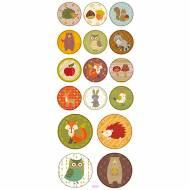 Planche 16 Stickers Animaux de la Forêt