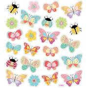 Planche 24 Stickers Papillons et Coccinelles