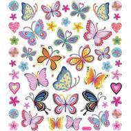 Planche Stickers Papillons à Fleurs