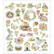 Planche 32 Stickers Pâques et Printemps