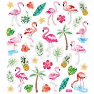 Planche 37 Stickers Flamants Roses