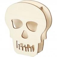 Figurine Crâne à Décorer -  Bois
