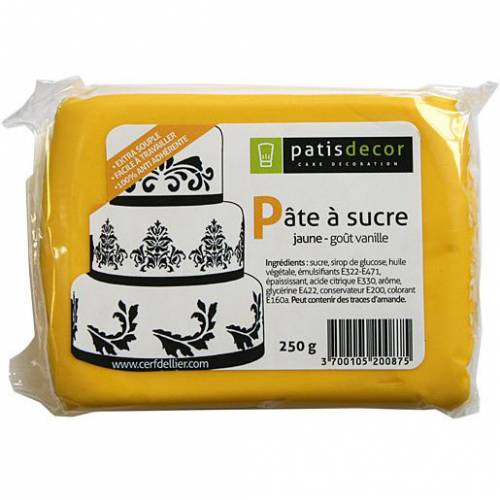 Pâte à sucre Jaune Patisdécor 250g