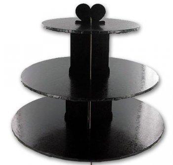 Présentoir à Cupcakes Noir Baroque