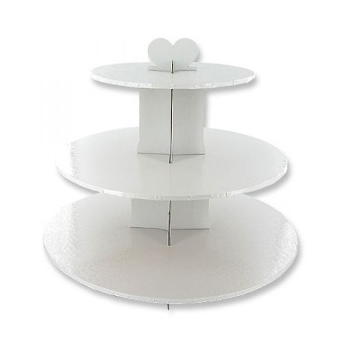 Présentoir à Cupcakes Blanc Baroque