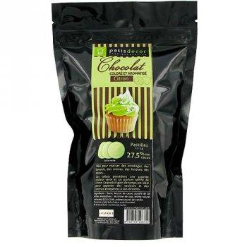 Pastilles de Chocolat Blanc Citron Vert (250 g)