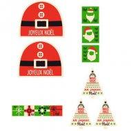 Kit Créatif Décors de bûche Père Noël en Chocolat Blanc (100 g)
