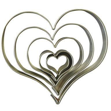 5 Emporte-pièces Coeur - Métal