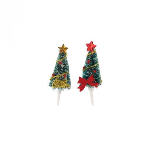 2 Pics sapins de Noël 3D