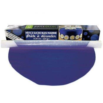 Pâte à Sucre Bleu Marine à dérouler (430 g)