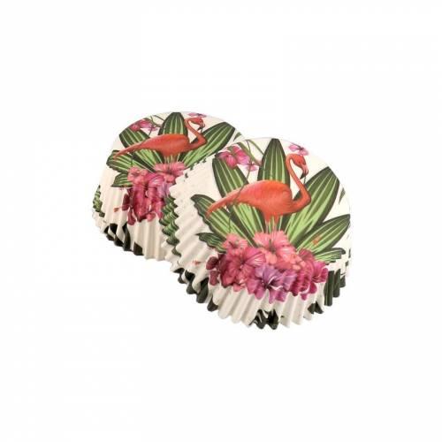 50 Caissettes à Cupcakes - Flamant Rose