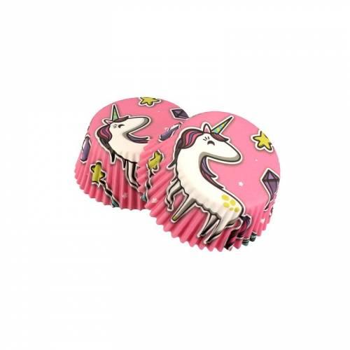 50 Caissettes à Cupcakes - Licorne
