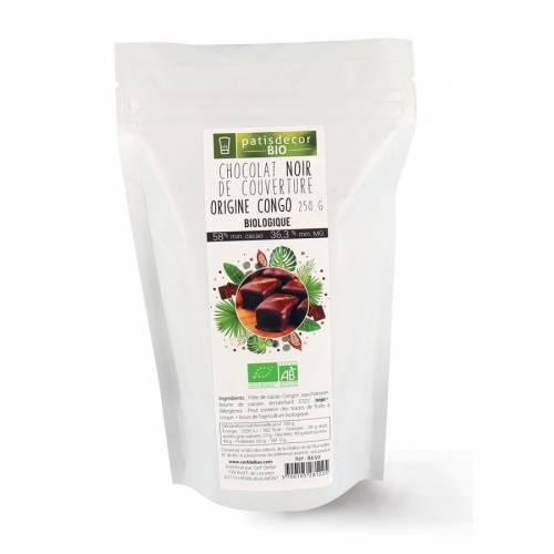 Chocolat Noir de Couverture Bio - 250g