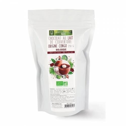 Chocolat au Lait de Couverture Bio - 250g