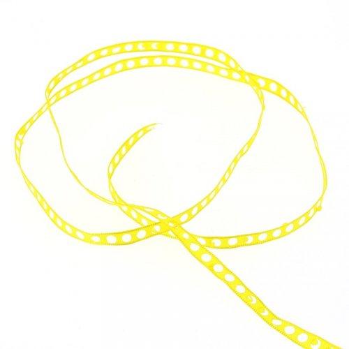 Ruban Pois Perforés (0,7 cm - 2 m) - Jaune Pop