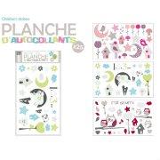 Planche 25 Stickers muraux Oiseaux