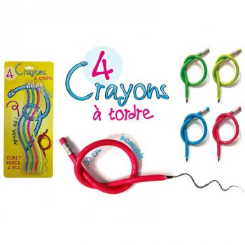 4 Crayons géants caoutchouc