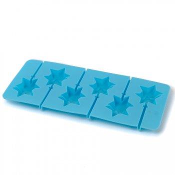 Moule 6 Sucettes Chocolat Double étoiles avec batonnets