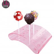 Support rose 20 Cakes pop ou Sucettes