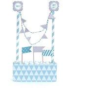 Kit d�coration G�teau Bleu