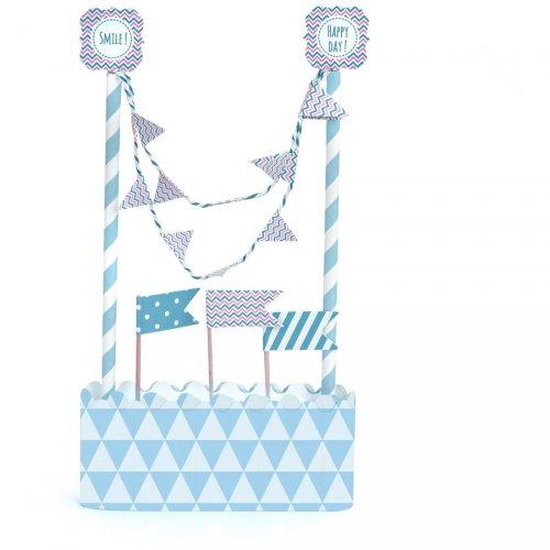 Kit décoration Gâteau Bleu
