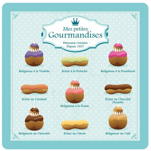 8 Petites Assiettes Gourmandises Bleu