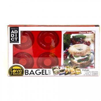 Coffret Moule Silicone 4 Bagels avec Recettes