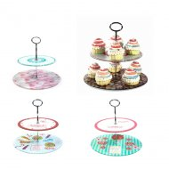 Présentoir Cupcakes 2 Etages en Verre