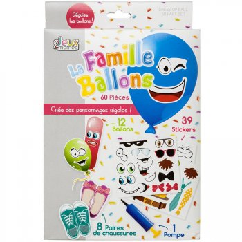 Kit Créatif 12 Ballons à Déguiser
