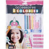 Kit 6 Accessoires Princesse à colorier