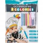 Kit 6 Accessoires Pirate à colorier