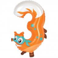 Ballon  Animal Chiffre 3 (58 cm)