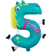 Ballon Animal Chiffre 5 (66 cm)