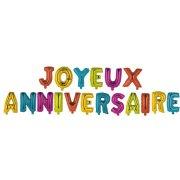 Guirlande 18 Ballons joyeux Anniversaire Multicolores