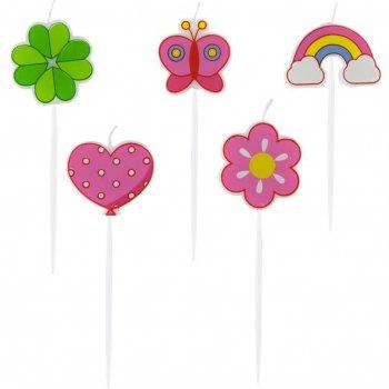 5 Bougies Jolie Nature (7 cm)