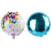 2 Ballons Joyeux Anniversaire Double face Bleu