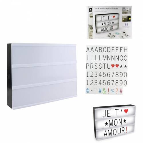 Boite Lumineuse Light Box 85 Lettres (30 cm)